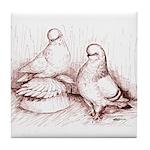 Tumbler Pigeons Tile Coaster