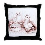 Tumbler Pigeons Throw Pillow
