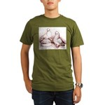 Tumbler Pigeons Organic Men's T-Shirt (dark)