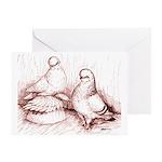 Tumbler Pigeons Greeting Card
