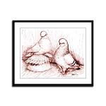 Tumbler Pigeons Framed Panel Print