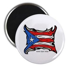 "Puerto Rico Heat Flag 2.25"" Magnet (10 pack)"