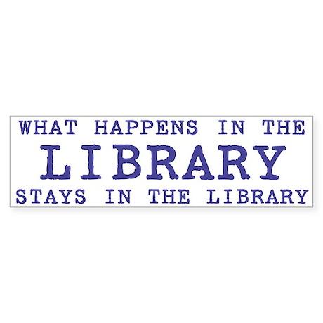 In the Library Bumper Sticker (50 pk)