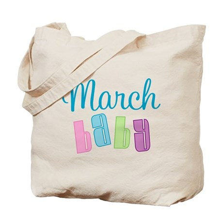 Cute March Baby Tote Bag