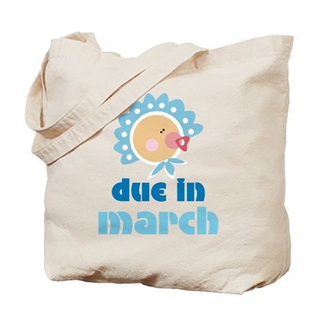 Boy Baby Due In March Tote Bag
