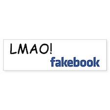 """Fakebook """"LMAO"""" Bumper Bumper Sticker"""