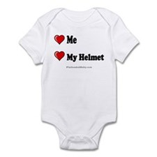 Love Me Love My Helmet Infant Bodysuit