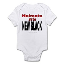 Helmets are the New Black (Red Letters) Infant Bod