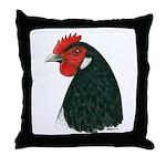 Lakenvelder Hen Head Throw Pillow