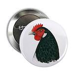 """Lakenvelder Hen Head 2.25"""" Button (10 pack)"""
