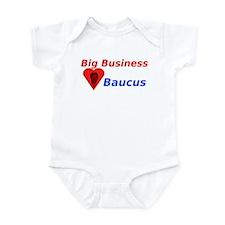 Big Business Loves Baucus Infant Bodysuit