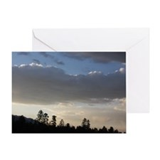 Clouds Mountains and Trees Greeting Card
