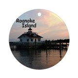Roanoke Island Lighthouse Ornament (Round)