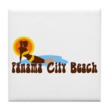 Panama City Beach FL Tile Coaster