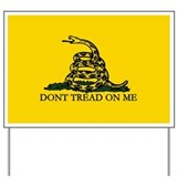 Serpent Crotalus Gadsden Flag Yard Sign