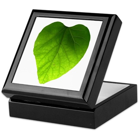 Green Heart Leaf Keepsake Box