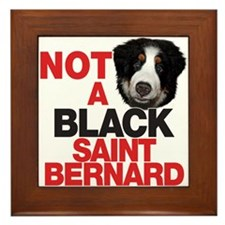 It's a BERNese Mountain Dog Framed Tile