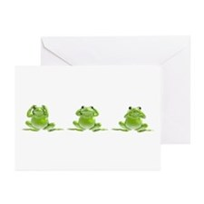 3 Frogs! Greeting Cards (Pk of 10)