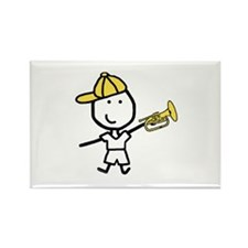 Boy & Mellophone Rectangle Magnet (100 pack)