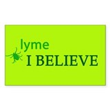 I Believe Rectangle Sticker 50 pk)