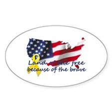 Land of the free ... Oval Decal