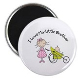 big sister little brother matching t-shirts Magnet