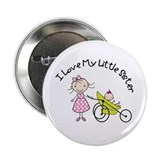 "big sister little sister matching 2.25"" Button"