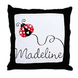 Ladybug Madeline Throw Pillow