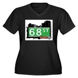 68 STREET, QUEENS, NYC Women's Plus Size V-Neck Da