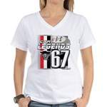 1967 Musclecars Women's V-Neck T-Shirt