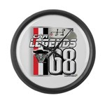 1968 Musclecars Large Wall Clock