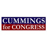 Cummings for Congress bumper sticker