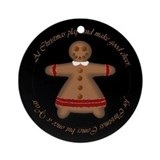 Gingerbread Woman with Verse (Round)