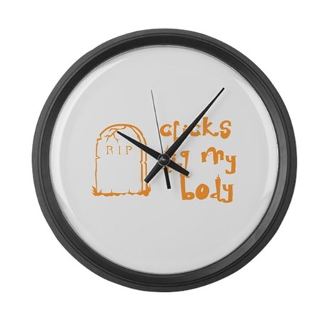 Chicks Dig My Body Large Wall Clock