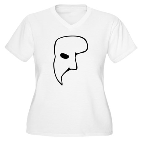 Phantom of the Opera Womens Plus Size V-Neck T-Sh