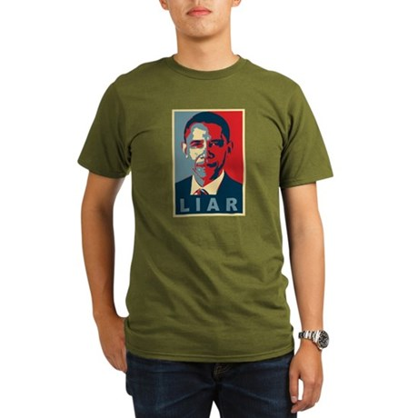 Obama Is A Liar Organic Mens Dark T-Shirt