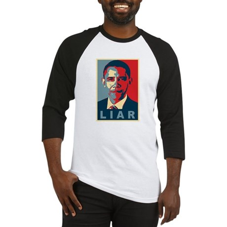 Obama Is A Liar Baseball Jersey