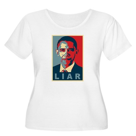 Obama Is A Liar Womens Plus Size Scoop Neck T-Shi