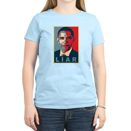 Obama Is A Liar Womens Light T-Shirt