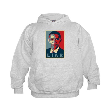 Obama Is A Liar Kids Hoodie