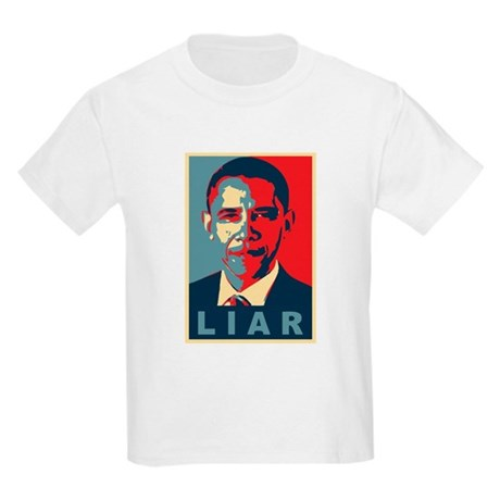 Obama Is A Liar Kids Light T-Shirt