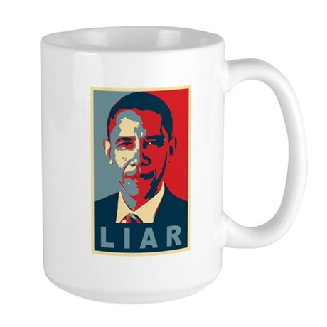 Obama Is A Liar Large Mug