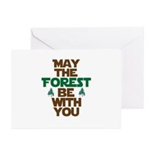 May The Forest Be With You Greeting Cards (Pk of 2