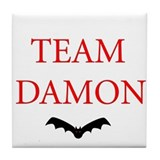 Team Damon Bat Tile Coaster