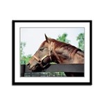 Seattle Slew Framed Panel Print