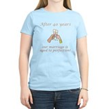 40th Anniversary Wine glasses  T-Shirt