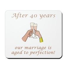 40th Anniversary Wine glasses Mousepad