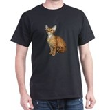 Devon Rex Cat Black T-Shirt