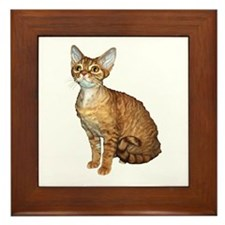 Devon Rex Cat Framed Tile