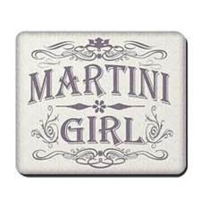 Vintage Martini Girl Mousepad